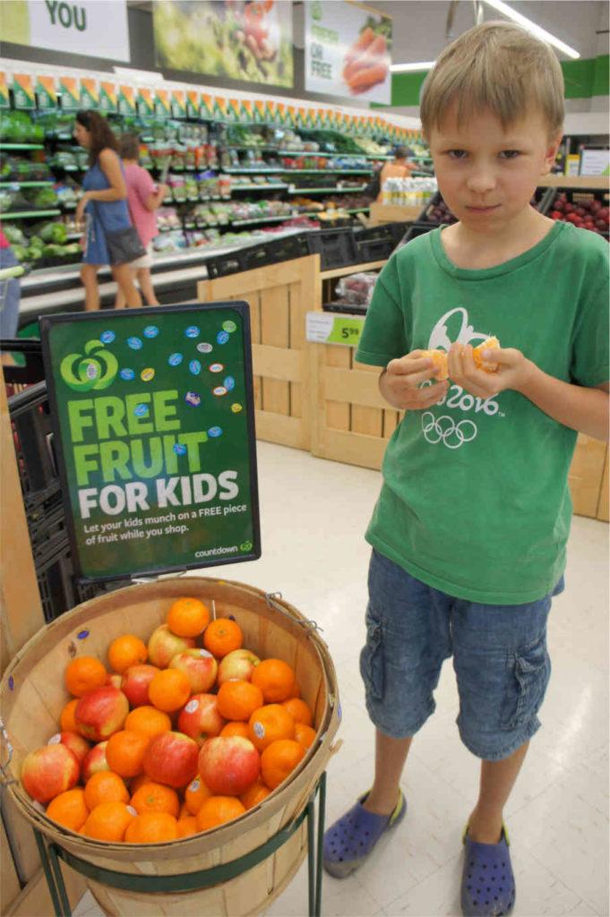 w supermarkecie, Nowa Zelandia