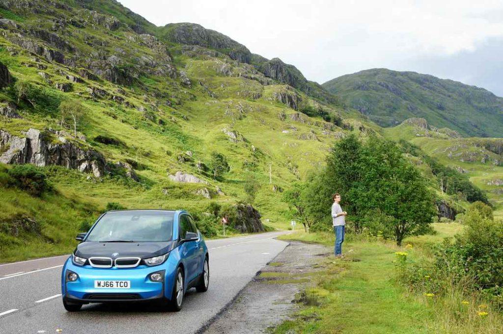 elektryczne BMW i3, Szkocja