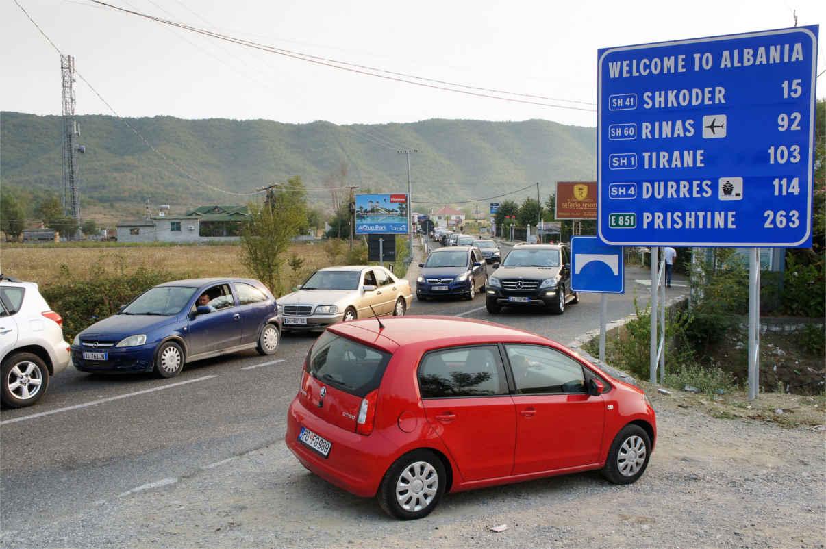 przejście graniczne Czarnogóra - Albania