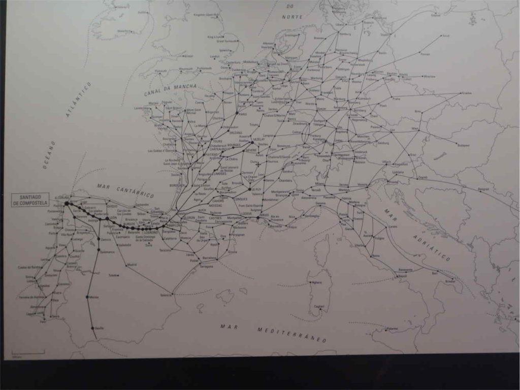 mapa tras Camino De Santiago