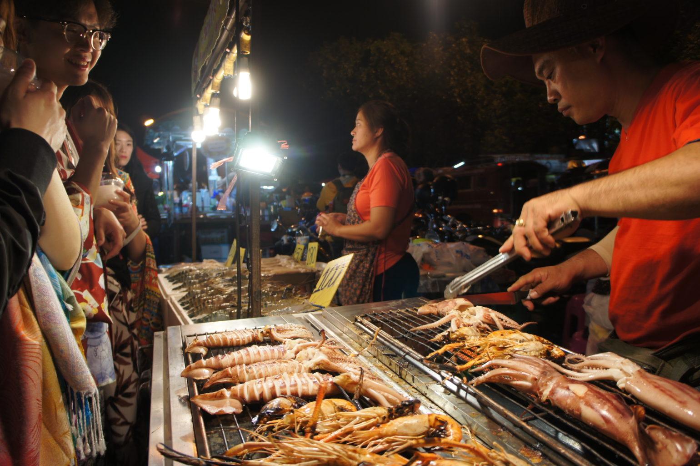 Chiang Mai uliczne jedzenie