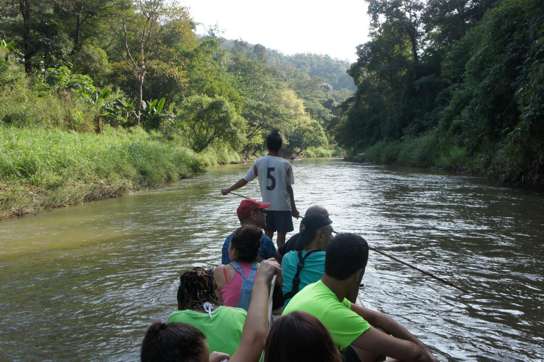 trekking Tajlandia - spływ tratwą