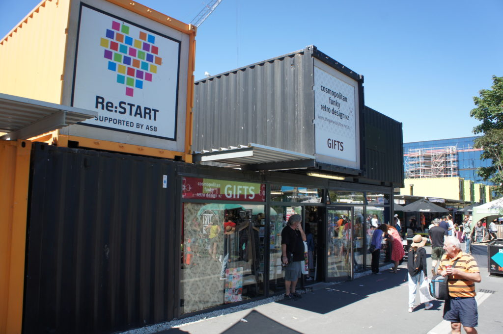 kontenery ReStart Christchurch Nowa Zelandia