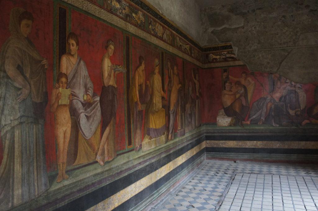 wnętrze starożytnej rzymskiej willi