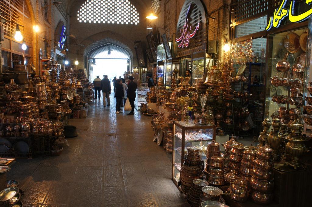 kolorowy bazar w Iranie