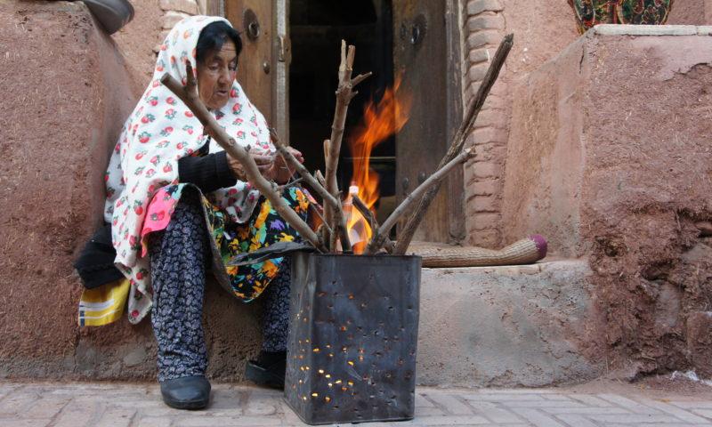 Tradycyjne Abjane w irańskich górach