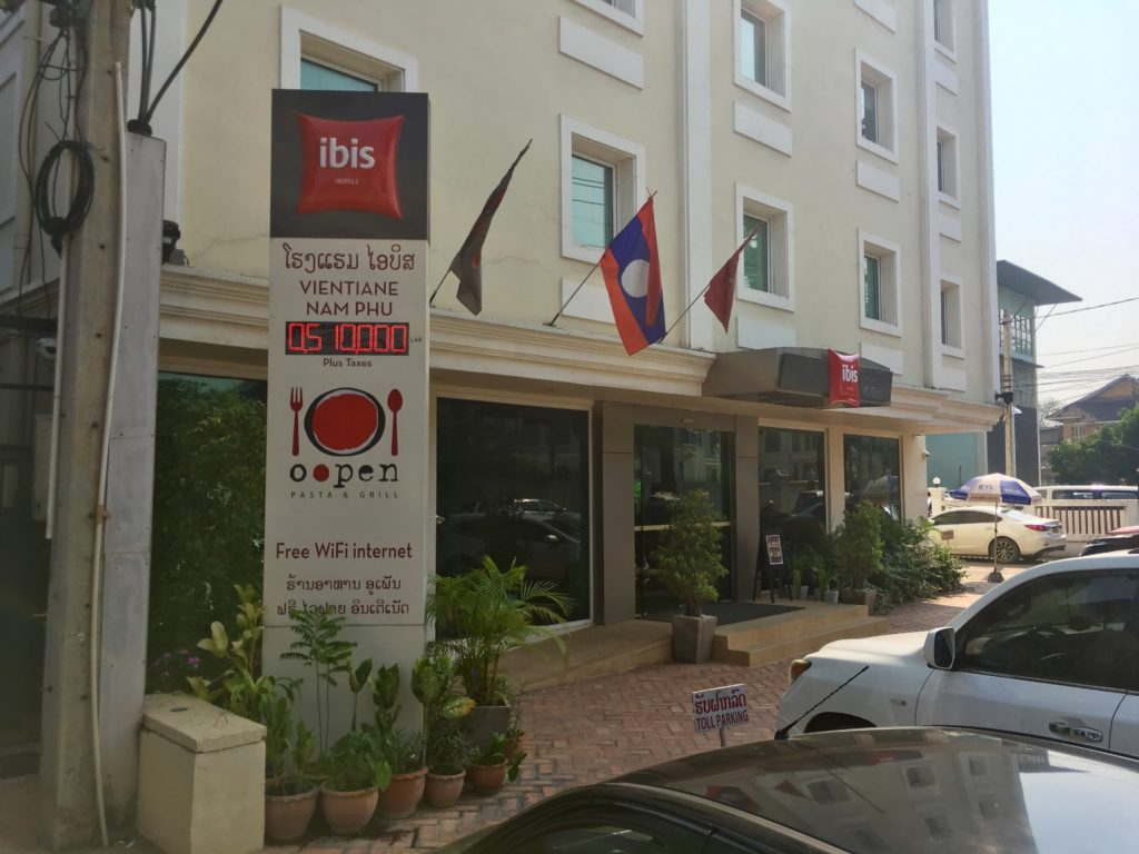 """""""Ibis"""" w Wientian; jeden z najdroższych hoteli"""