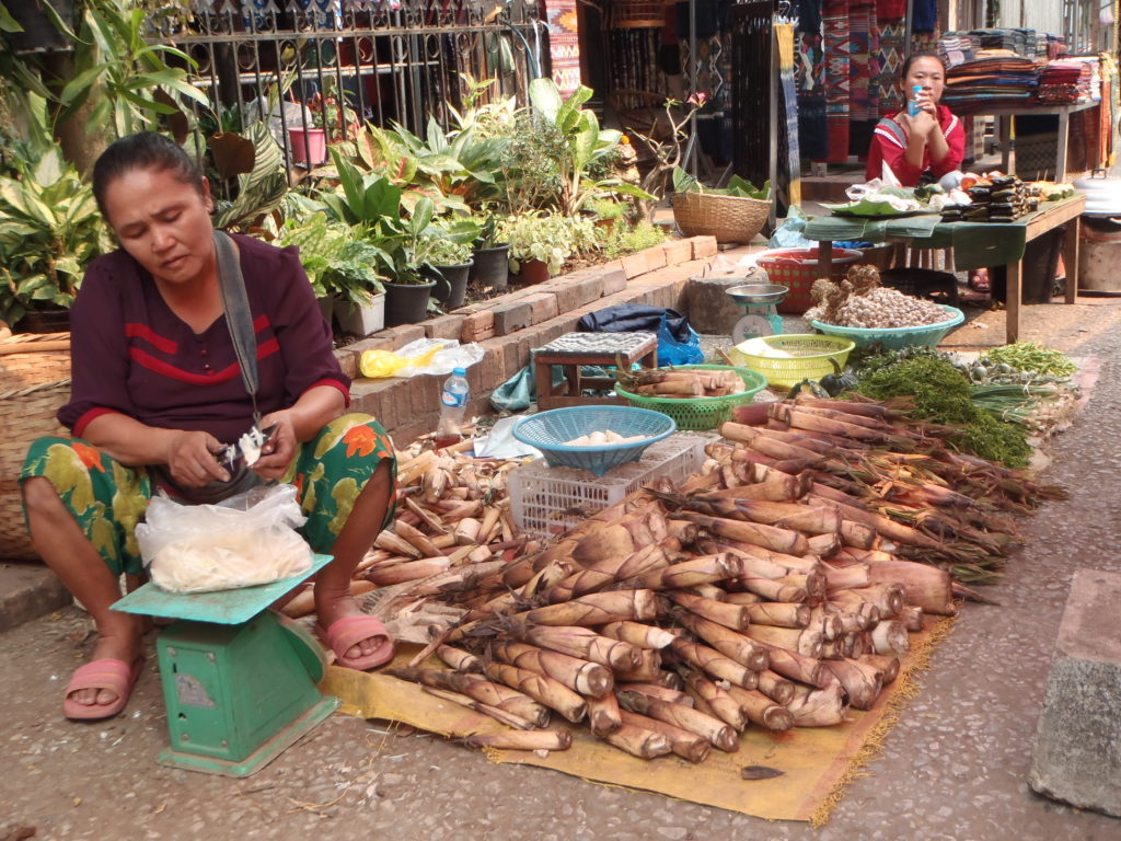 Na targu w Luang Prabang