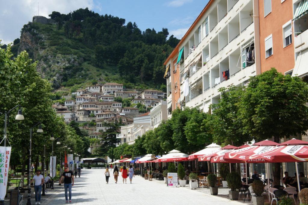 Berat - stara i nowa część miasta