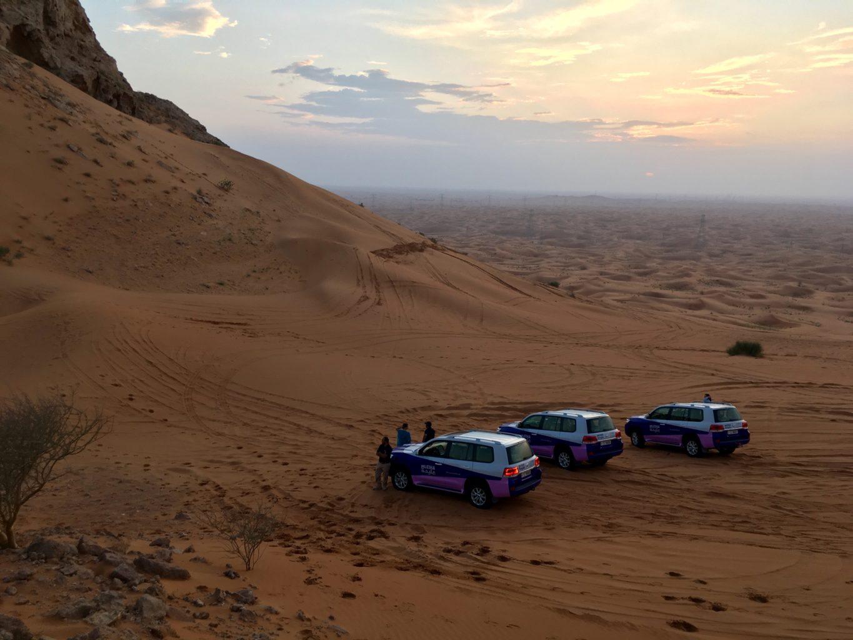 Zachód słońca na pustyni zawsze robi wrażenie