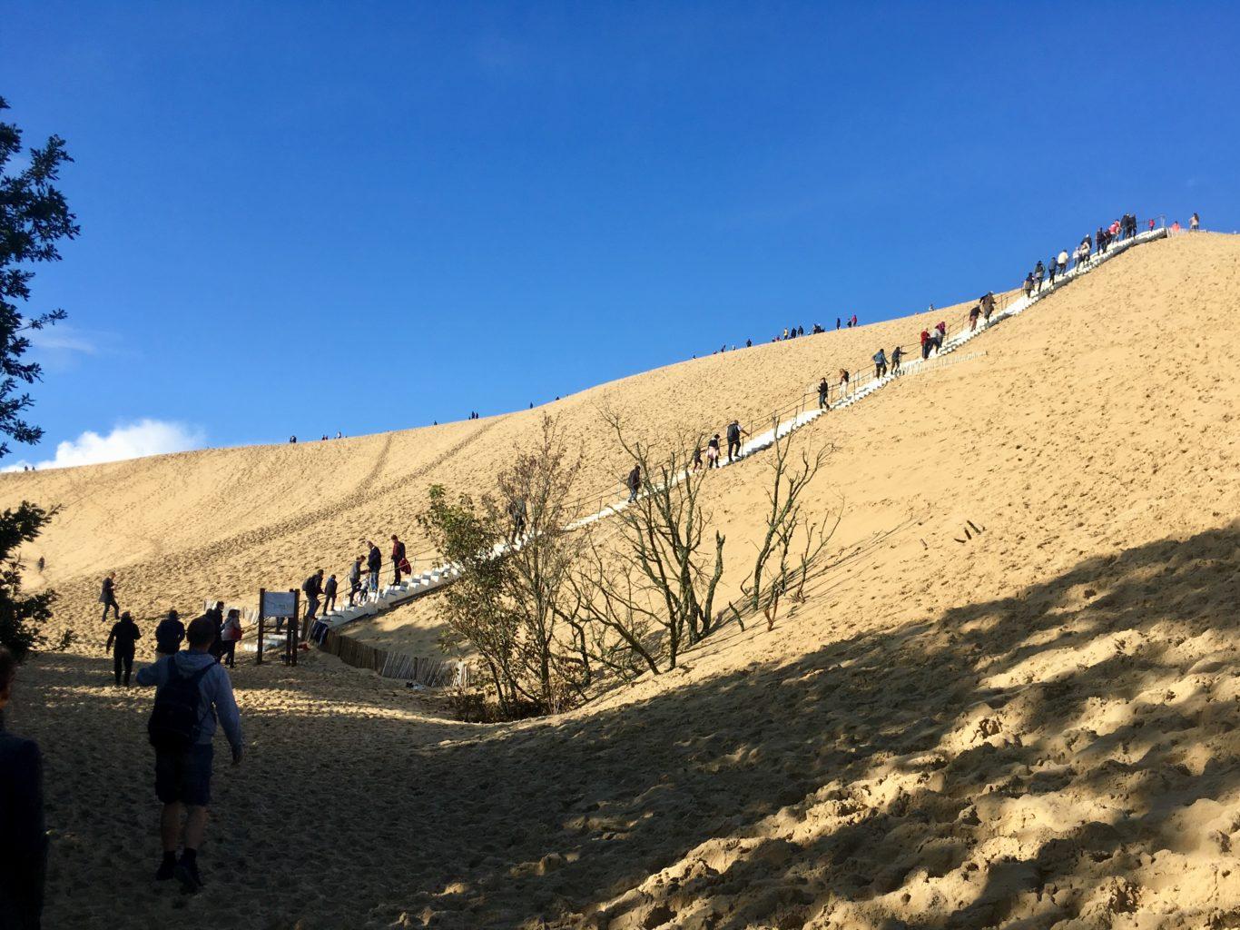 Wejście na wydmę Dune du Pilat