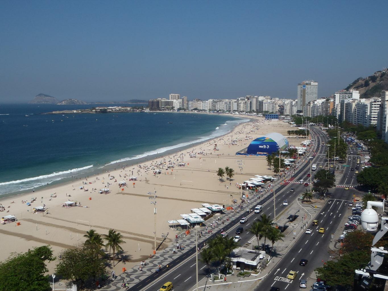 Widok na Copacabana z tarasu jednego z hoteli