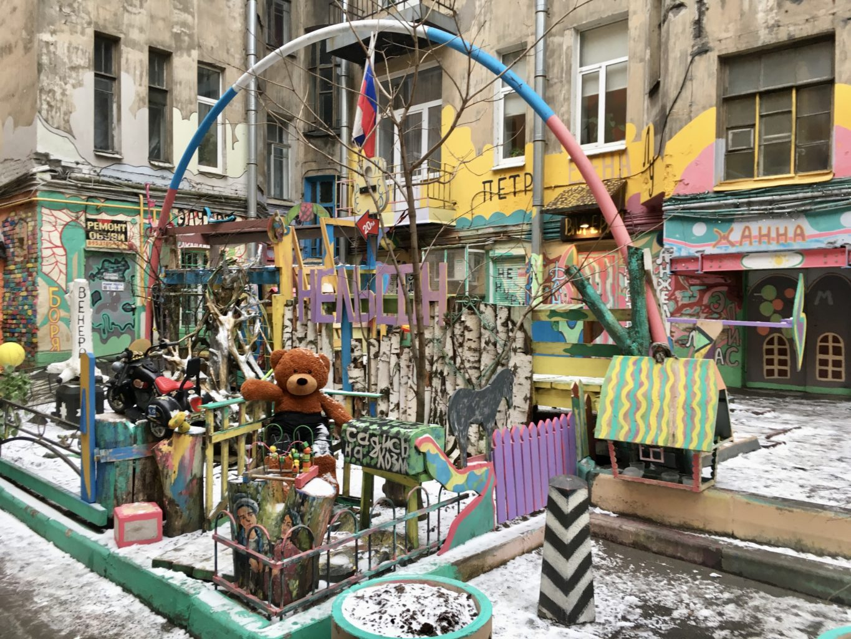 Artyści są wszechobecni w Petersburgu