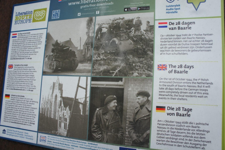 Pamiątkowa tablica poświęcona polskim wyzwolicielom znajduje się w Baarle