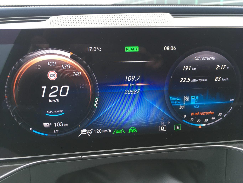 Tablica wskaźników Mercedesa EQC 4matic