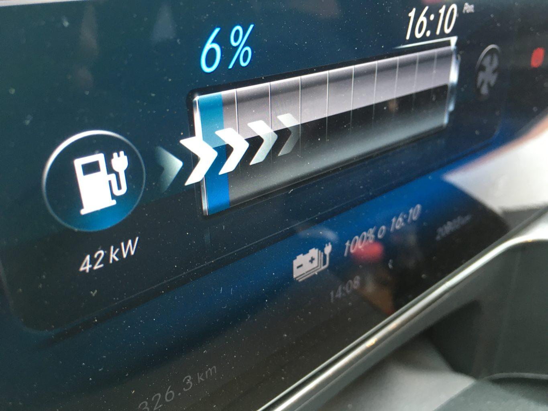 W trybie DC auto może pobierać nawet 110kW; niestety w Polsce na razie trudno przekroczyć 50kW