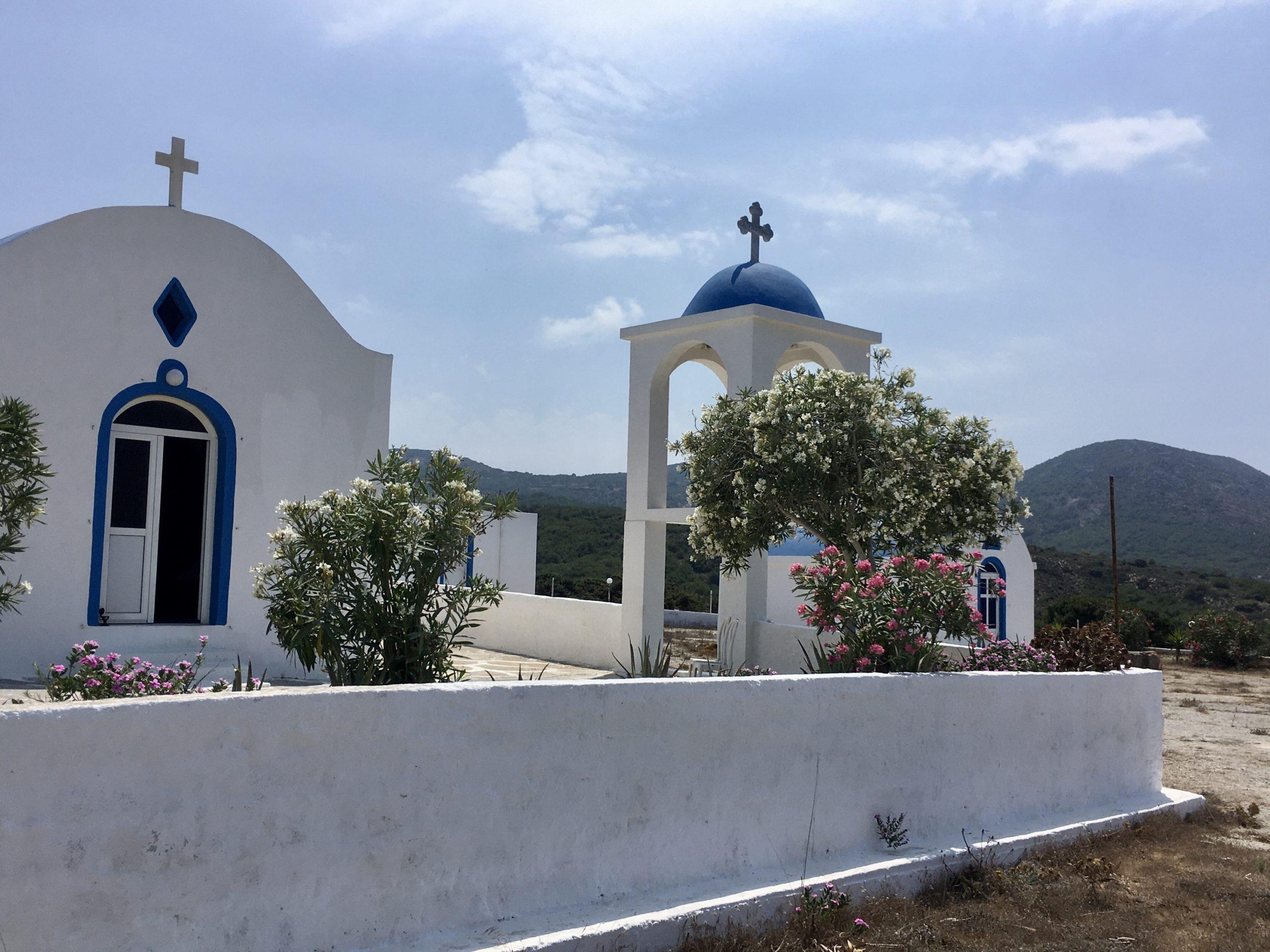 Kościół na odludziu na półwyspie Kefalos
