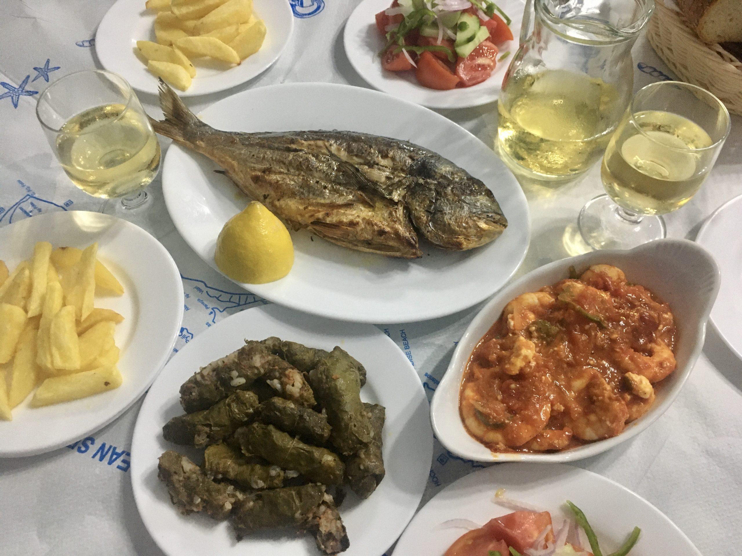Świeże, smaczne i kolorowe greckie dania z Kos